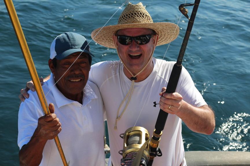 We always catch fish