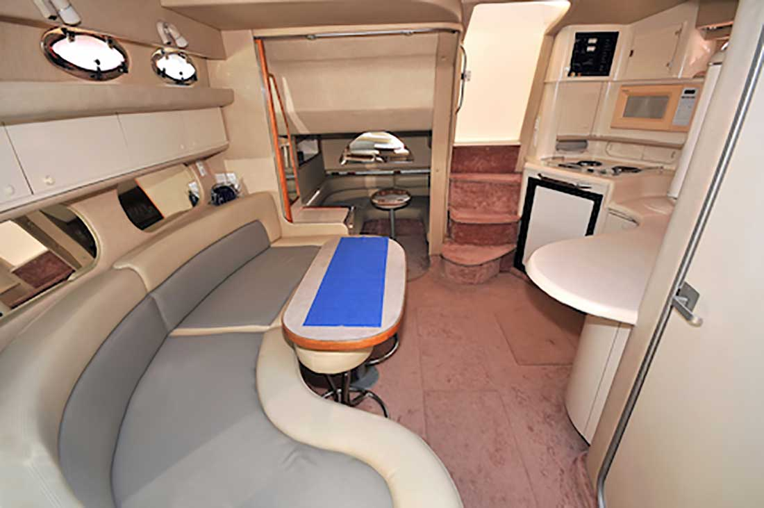 37 Foot Sea Ray SunDancer -Power-Yacht-Up-to-10-People-AC-Lower-Deck-Area-features-a-Galley-Dining-TV-Stateroom