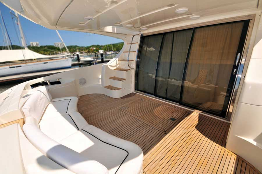 62-FT-Azimut-Luxury-Power-Yacht-Up-to-25-People-Cushioned-Terrace-under-Shade-Bridge-stairs