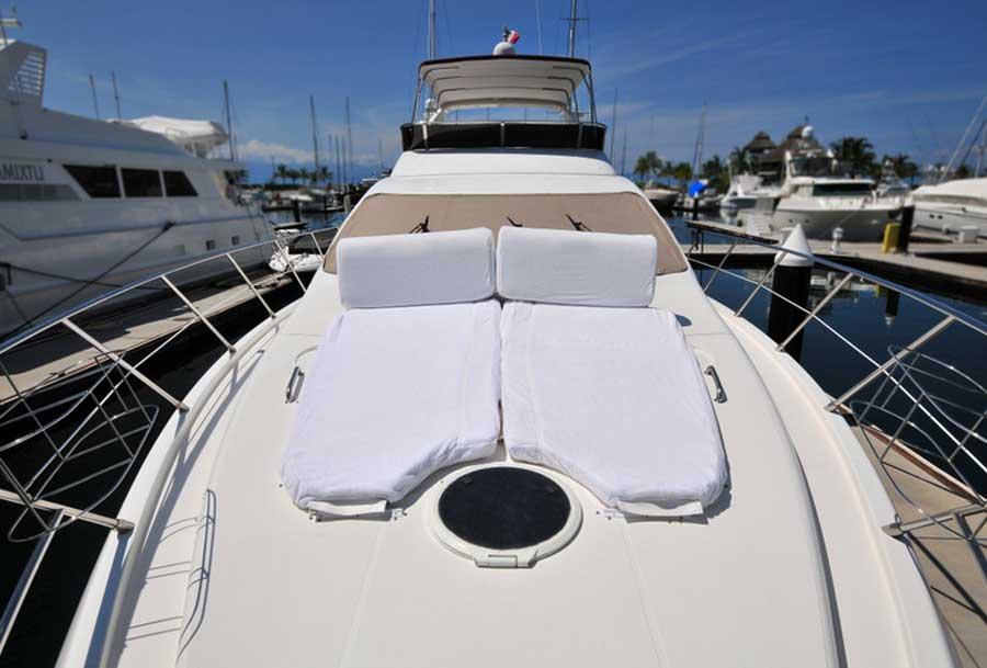 62-FT-Azimut-Luxury-Power-Yacht-Up-to-25-People-Double-Sunbathing-Mattress-over-Bow