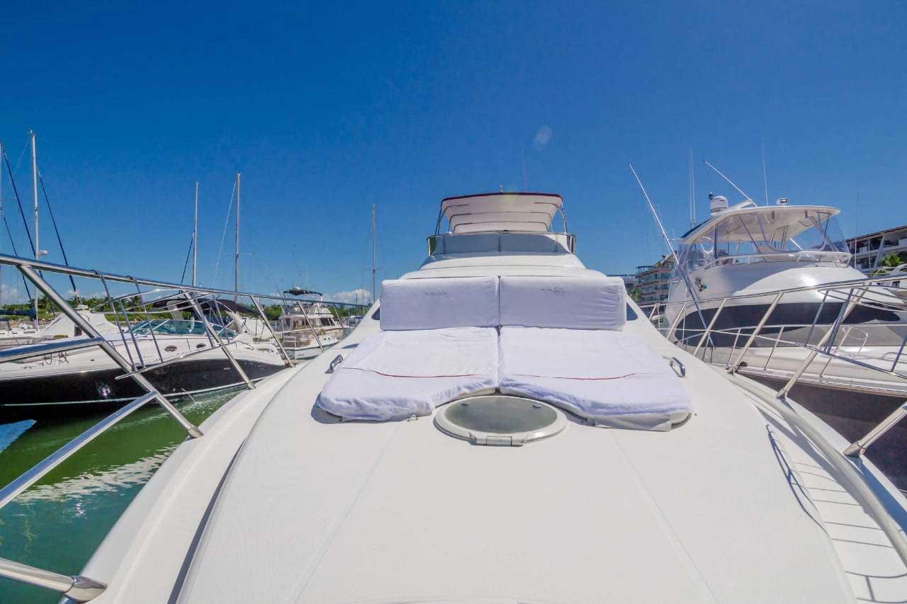62-FT-Azimut-Luxury-Power-Yacht-Up-to-25-People-sunbathing-pad-bow